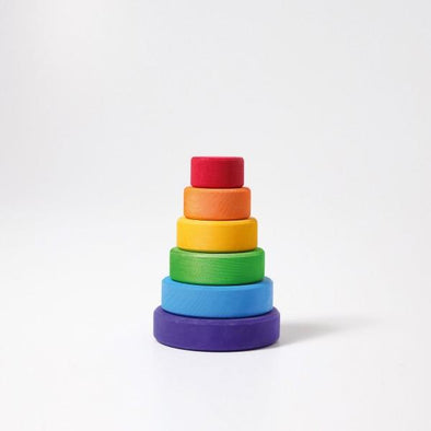 Grimm's Small Conical Stacking Tower-Rainbow Classic