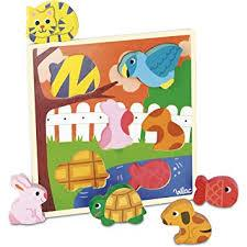 Vilac- Wooden Tray Animal Puzzle
