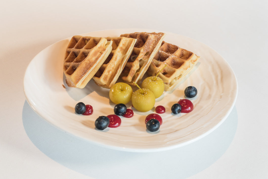 Traditional Belgium Waffles (Available from 7:30 to 10:30am)