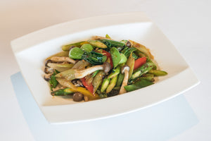 Wok-fried seasonal vegetables