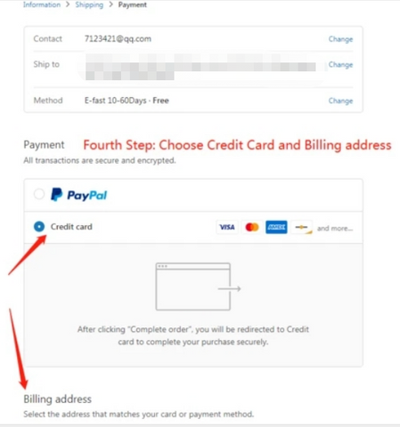How to pay by credit card online - Fourth Step