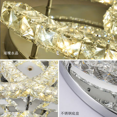 crystal ceiling lights remote dimming