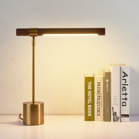 wood led table lamp
