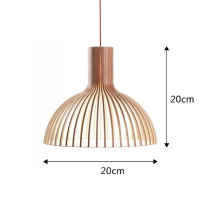 Secto Pendant Light with Wood for Kitchen