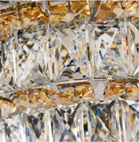 round crystal ceiling light
