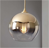 Sculptural Glass Globe Pendant