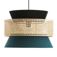 3-Tier Rattan Abstract Lightshade pendant