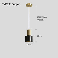 Brass Cylinder Pendant Light