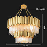 Empire Chandelier 2 overlapping Crystal Lamp