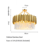 Empire 1 Crsytal Chandelier Round Gold
