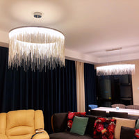 Aluminum chain Stream chandelier