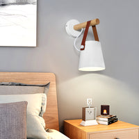 Wooden Hanging Wall Lamp