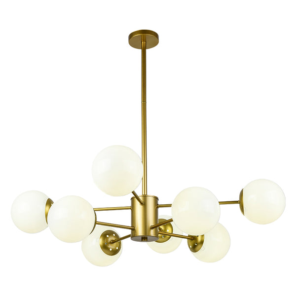 Karrington Glass Ball Brass Chandelier