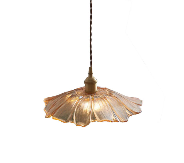 Creative Retro Lotus Glass Pendant Lamp