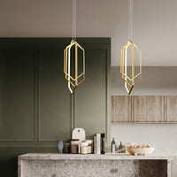 Contemporary Hexagon Geometric Modern Chandelier