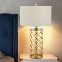 Openwork metal table lamp