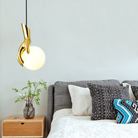 Creative Hand Shape Pendant | Marble Wall Sconce