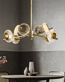 LED Crystal Brass Chandelier