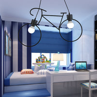 Iron Bike Industrial Pendent Light for Dining Room Bedroom
