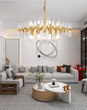 american brass and crystal chandelier