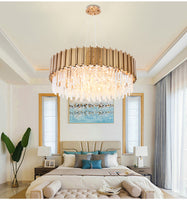 bella crystal round chandelier