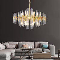 brass and crystal chandelier antique