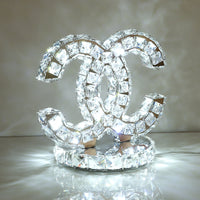crystal table lamp cool white