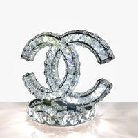 crystal table lamp vintage