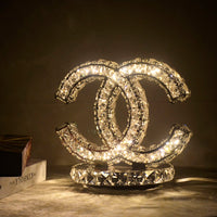 crystal table lamp warm white