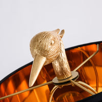 gold ibis table lamp
