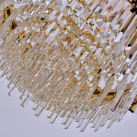 large round crystal chandelier