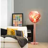 melt glass floor lamp
