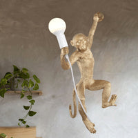 monkey lamp gold