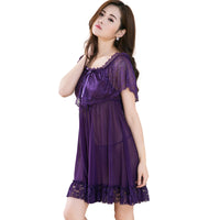 night dresses for women sleep sexy purple color
