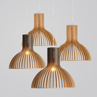 pendant light with wood