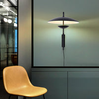 plug in wall lamp black