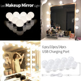 12V Makeup Mirror Light Bulb Hollywood Vanity Lights Dimmable Wall Lamp for Dressing Table