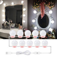 Hollywood Vanity Makeup Mirror Light Bulb USB 5V MakeUp Lamp Dressing Table Bathroom Cosmetic Lights