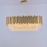 rectangular chandelier crystal