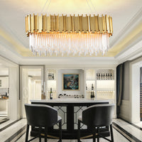 rectangular chandelier lighting