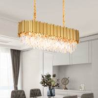 rectangular chandelier shade