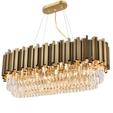 rectangular chandelier with crystals