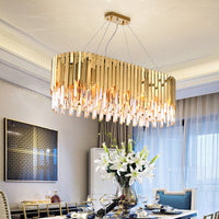 rectangular drum chandelier