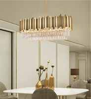 rectangular drum shade chandelier
