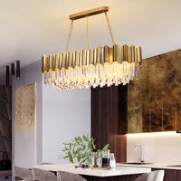 rectangular glass chandelier