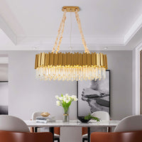 rectangular metal chandelier