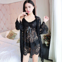 sexy lingerie set for women with robe