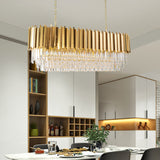 size of rectangular chandelier for dining table