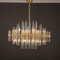 wallingford antique brass and crystal chandelier