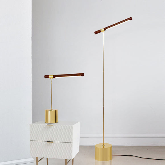wood led floor lamp